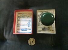 vintage English change of address stamp1940's- 50's painted green wooden handle