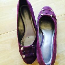 Dana Buchman Shoes Womens Purple Suede Wedge Heels Size 9 Med