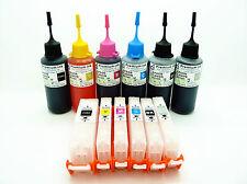 Refillable Ink Kits For Canon Pixma MG5650 iP8750 PGI550 CLI551 + 300ml NON-OEM