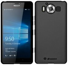 AMZER Exclusive Pudding Matte TPU Case Skin Cover For Microsoft Lumia 950 -Black
