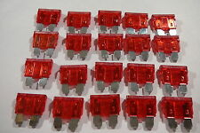 10 amp STANDARD CAR BLADE FUSES 10A RED BLADE FUSES (20 PACK)