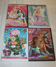 Lot 4 Barbie DVD Swan Lake Barbie Diaries Princess & The Pauper Holiday