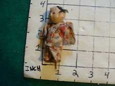 vintage Japanese figure: small vintage Doll male, damage to head, stick stand