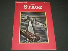 1934 SEPTEMBER THE STAGE MAGAZINE - NICE COVER - GREAT PHOTOS & ADS - ST 17