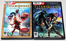 TITAN QUEST & IMMORTAL THRONE ADD ON - PC DVD GOLD EDITION MIT HANDBUCH