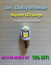 (10)BAYONET LED-LAMPS/6.3V AC-COOL&WARM WHITE--STEREO PREAMP-MC/MAC/PANEL-BA9s