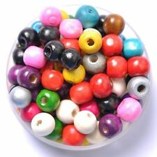 1000pcs Wholesale Natural Wood Round Spacer Loose Beads Charms 4MM*3MM Mixed New
