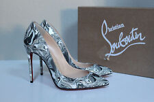 sz 5.5 / 35.5 Christian Louboutin Pigalle Follies Patent Pointed toe Pump Shoes