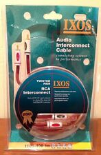 IXOS 1 meter PC-OFC Audio Interconnect Cables-Twisted-Pair Directional-Design