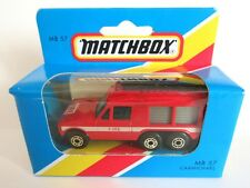 Matchbox Superfast 57e Carmichael Fire Vehicle (Macau) - Mint/Boxed