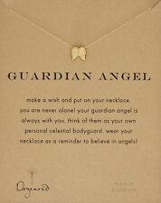 "Dogeared Guardian Angel Angel Wings Gold Dipped Reminder 16"" Boxed Necklace"