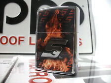 Zippo Windproof Lighter Snap-on Fire Flames HP Chrome 2016 NEW