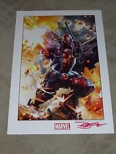 2015 SDCC DEADPOOL ART PRINT SIGN BY DAVE WILKINS 13x19