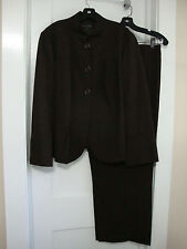 Laffayette 148 Womens Suit Brown Size 16 Jacket and 18 Pants