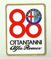 Alfa Romeo 80 Years Ottantanni Vintage Sticker Decal x 2 75 164 Spider 33