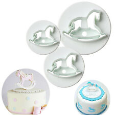 3pcs Horse Shape Cake Baking Tools Fondant Biscuit Cutter Decorating Cookie Mold
