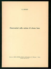 DONDI GIORGIO OSSERVAZIONI SULLA SEZIONE DI ALCUNE LAME ARMI ANTICHE 1975