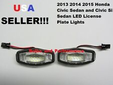 2013 2014 2015 Honda Civic Si Sedan White LED License Plate Light Lamp 6000K NEW
