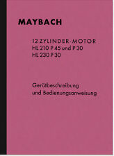 Maybach HL 210 230 P 45 30 Manuale Manuale descrizione Wehrmacht