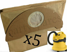 5 x Strong Dust Bags for Karcher WD2.200 WD3.500 MV2 MV3 Vacuum Cleaner Hoover