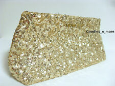 New Victoria's Secret Gold Sparkling Sequin Clutch Purse