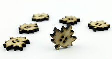 6pcs Large Wooden Buttons 30mm / Scrapbooking/ Laser Cut Wood / Sewing / Crafts
