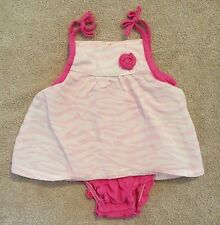 ADORABLE! CARTER'S 3M PINK ZEBRA DRESS ROMPER W/BUILT IN BLOOMERS