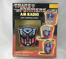 MIB G1 TRANSFORMERS AM RADIO Autobot Fighter OPTIMUS PRIME Transistor NASTA 1984