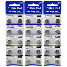 30 pcs ~ AG10 button cell alkaline batteries coin watch calculator battery size
