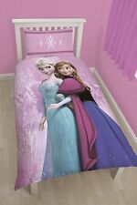 Disney frozen printemps-elsa/anna single duvet/quilt cover set-réversible