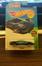 Hot Wheels 2017 17 Ford GT 2016 HW Exotics Non-Super blue