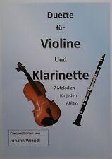 Noten Violine und Klarinette (Duette) von Johann Wiendl