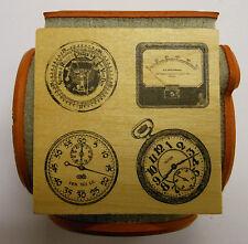 Relojes Instrumentos 4 lados Cubo Sello de Goma por Judikins
