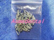 100 pcs of Dental Quartz Screw Thread BULK FIBER POST,Black Ring 1.8mm