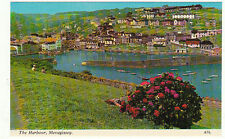 Vintage unused Postcard Cornwall, The Harbour Mevagissey a7l
