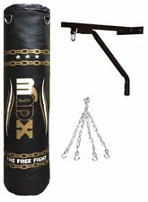 MADX 5ft Filled Heavy Punch Borsa Con Tracolla a Catena + Supporto Sacco da boxe