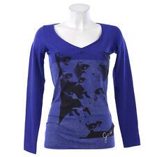 GUESS Damen Shirt Pullover Baumwollmischung M 38 blau