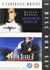UNDER SIEGE PART 1 AND UNDER SIEGE PART 2 MOVIE FILM DVD Steven Seagal New UK