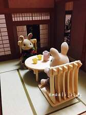 Dollhouse miniature background scene board Japanese Style Room and wood craft