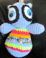 HANDMADE COLORFUL WOOL  CROCHETED AWL ONE OF A KIND DIRECTLY FROM  THE ARTIST