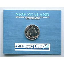 NEW ZEALAND 2002 UNCIRCULATED $5 COIN , AMERICAN'S CUP !!!!!!