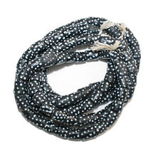 African Beads Recycled Glass Krobo Tubes Black 10 mm 11 Pack Jewellery & Crafts