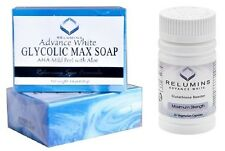 Relumins Glycolic Max Soap Mild Peel + Relumins Glutathione Max Strength Booster