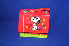 Snoopy Peanut Doghouse fiberboard box with red plastic handle