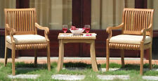 Giva Grade-A Teak 3pc Dining Chair Side End Table Set Outdoor Garden Patio New
