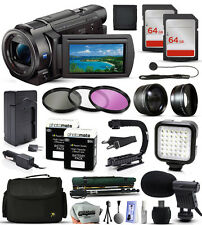 Sony FDR-AX33 4K HD Handycam Camcorder Video Camera + 128GB Accessories Bundle