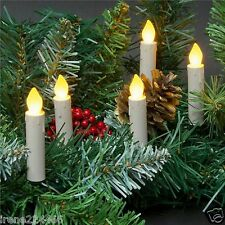 LED 3in 10 Taper Candle String Lights Battery Clip-On Tree Wreath Mantle NIP