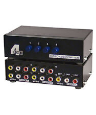 4-Way 3-RCA Audio Video AV Switch Switcher Input Selector Box