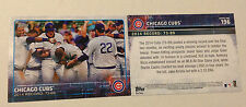 2015 Topps 5x7 CHICAGO CUBS TEAM (#d /99) Card #196 Online Exclusive Jumbo Print