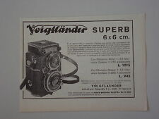 advertising Pubblicità 1935 VOIGTLANDER SUPERB
